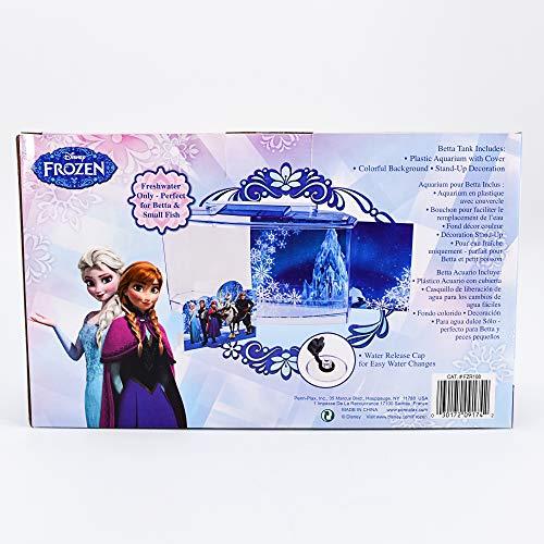 Penn-Plax Officially Licensed Disney's Frozen Themed Betta Tank from Perfect for Betta Fish, This Small Tank is Perfect for Fans of Frozen! Small 0.7 Gallon Tank (FZR108), Blue