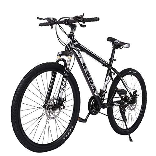 Hyioammb Mountain Bikes 26 inch 21-Speed ​​Bicycle Full Suspension Mountain Bike Folding Mountain Bike for Adult Teens (Black)