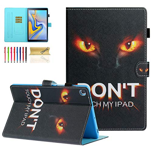 SM-T720 Case, Galaxy Tab S5e 10.5 Case, Dteck Slim PU Leather Folio Stand Case with Auto Wake/Sleep, Card Holder Smart Cover for Samsung Galaxy Tab S5e 10.5 inch 2019 Release T720/T725, Don't Touch