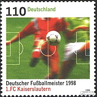 FRD (FR.Germany) 2010 (Complete.Issue.) 1998 Football Champion Kaiserslautern (Stamps for Collectors) Soccer