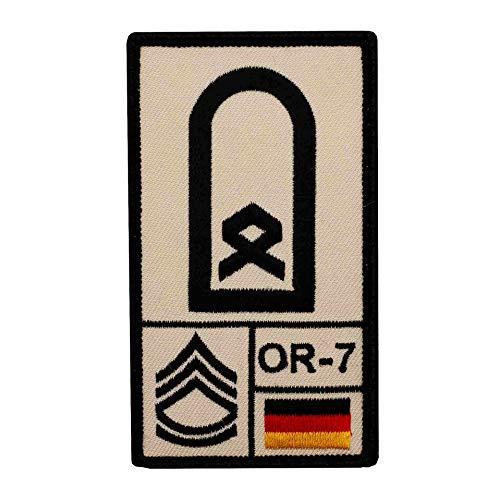 Café Viereck ® Hauptfeldwebel Bundeswehr Rank Patch mit Dienstgrad - Gestickt mit Klett – 9,8 cm x 5,6 cm