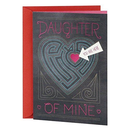 Hallmark Mahogany Valentine's Day Card for Daughter (Heart Maze)