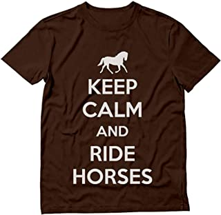 Tstars - Keep Calm Ride Horses - Horse Riding T-Shirt