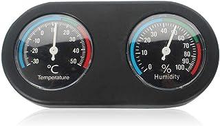 TEEPAO termómetro de Reptil higrómetro, termómetro Multifuncional de Doble dial para terrario, Apto para