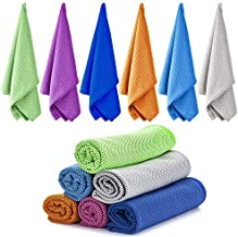 Ailawuu Cooling Towels,Ice Towel,Cool Towel 6 Pack Chilly Towel for Sports,Yoga,Neck,Golf,Workout,Gym,Fitness,Travel,Camping& More