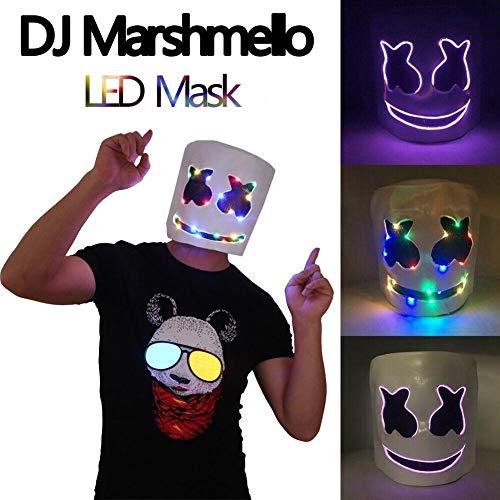 Gama de cascos LED para festivales de música, DJ, Marshmello ...