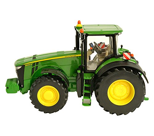 Tomy Britains John Deere 8400R Kindertractor met stuur en 3-punts trekhaak, hoogwaardige tractor voor kinderen vanaf 3 jaar om te spelen en te verzamelen