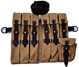 WARCRAFT EXPORTS German WWII MP40 Wehrmacht Magazine Pouch Set (GET Free MP40 Sling)