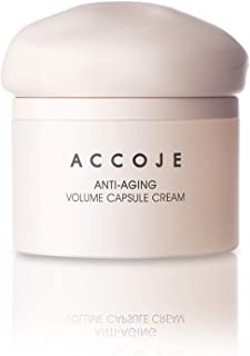 ACCOJE Best Korean Skin Anti Aging Products (Anti Aging Volume Capsule Cream 50 ml) DAY AND Night Use, Anti-Aging & Anti-Wrinkle | Restorative Satin Glow | For Wrinkles, Fine Lines, Skin Brightening, Firming, Hydrating, Toning, Rejuvenating, Wrinkle Dark Spot Reduction & Blemishes Removal