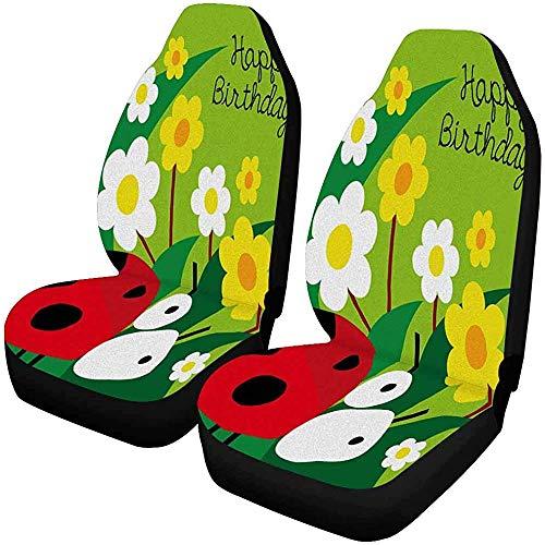 Verjaardagskaart Met Dier Leuke Ladybird Lieveheersbeestje Auto Stoelhoes, Stoelbeschermer Auto Mat Covers