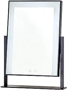 Miroir de maquillage LED avec Lampe de Miroir en métal 30 * 40cm, 40 * 50cm FANJIANI (Couleur : Charging-Noir, Taille : 2)
