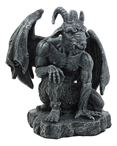 Ebros die geflügelten Guardian Baphomet Altartuch Gothic Gargoyle Statue Faux Stein Skulptur aus Kunstharz