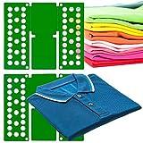 MovilCom® Doblador de Ropa, doblador de Camisas, Tabla para Doblar Camisas, Laundry Folder Verde