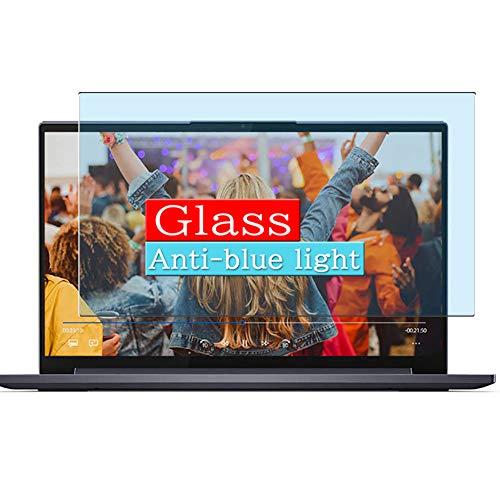 VacFun Filtro Luz Azul Vidrio Templado Protector de Pantalla Compatible con Lenovo Yoga Slim 750i 14 14' Visible Area, 9H Cristal Screen Protector(cobertura no completa)