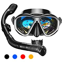 ❤ANTI-LEAK:OMORC snorkel set has a very soft liquid silicone skirt,reduces face water pressure,seals on your face well without worrying about water leakage,make your snorkeling experience better.(NOTE:ADJUST ELASTIC SILICONE STRAP TO FIT SNUGLY). ❤AN...