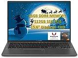 Newest 2020 ASUS VivoBook 15.6' FHD Laptop, AMD Ryzen 7 3700U(Beat i5-8250U) 16GB RAM + 512GB SSD , Radeon RX Vega 10, Backlit Keyboard, Fingerprint Windows 10 with E.S 32GB USB Card