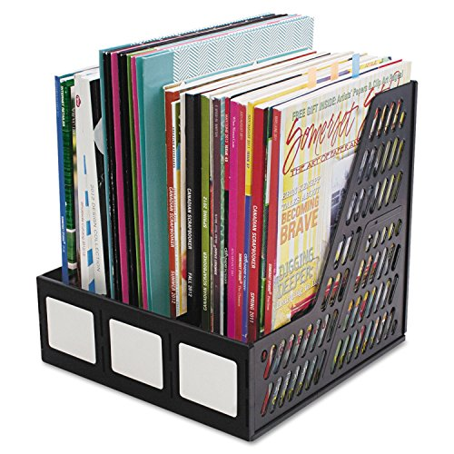Advantus 34091 Literature File, Three Slots, Black