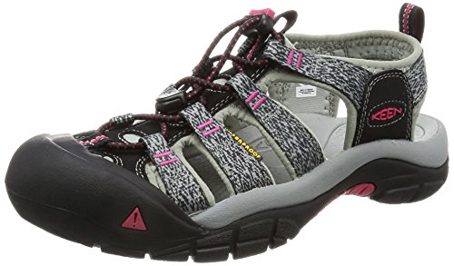 KEEN Women's Newport H2 Sandal, Black/Bright Rose, 8 M US