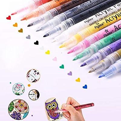 Amazon - Save 77%: Acrylic Paint Marker Pens, l'aise vie Acrylic Markers Paint Pens for Rock Painti…
