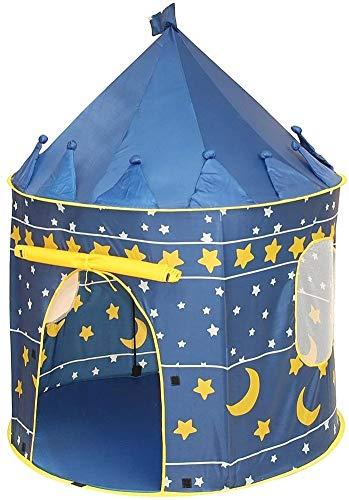 Spielzelt, Kinderzelt 'Mond und Sterne', Kinder Spielen Zelt Und Tragbare Jungen Mädchen Crown Star Moon Spielzelt Playhouse Castle