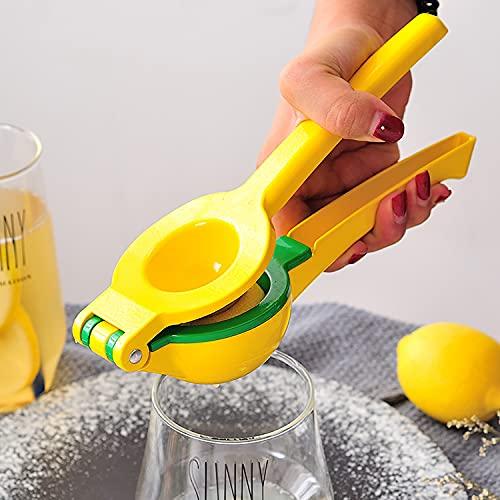 JINCAO Lemon Squeezer Manual Citrus Juicer, 2 in 1 Double Layer Orange Citrus Press Duty Fruit Press for Party, Drink Fruit Juicer Hand Press Lime Squeezer, Professional Citrus Juicer Kitchen Tools