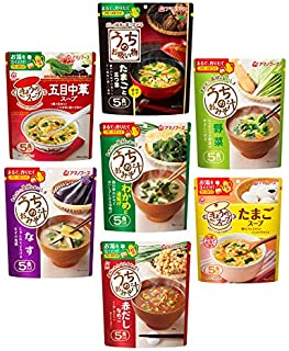 Assorted Freeze-dried Miso Soup and Soup Set (7type 35 Servings)