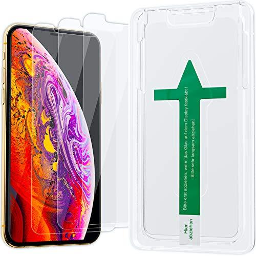 XeloTech Schutzglas [3 Stück] passend für iPhone 11 Pro & iPhone XS/X - Schutzglas kompatibel mit Hülle - Displayschutzfolie aus 9H Glas