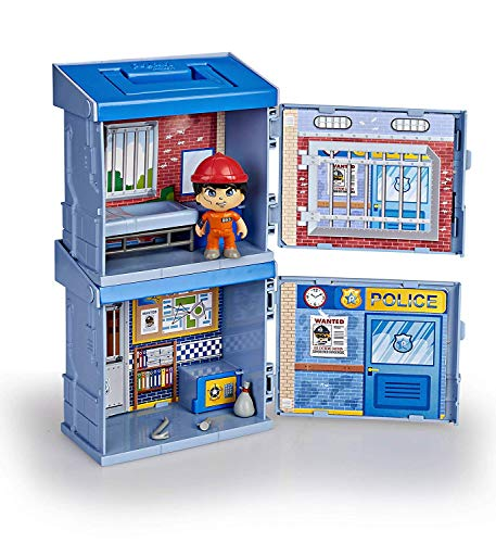Pinypon Action- 2 Mixópolis Boxes Comisaría y Cárcel de Policía con 1 Figura y Accesorios, niñas de 4 a 8 años (Famosa 700015715)