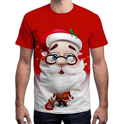 Batnott Herren Damen Weihnachtspullover Paar Oversize Weihnachten Rot Kleidung Pulli Große Größen Geschenk für Männer Kurzgarm Christmas Sweatshirt Xmas Party Grün Blau XXL