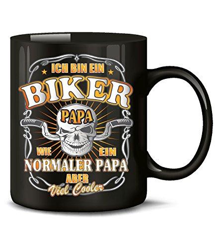 Ich bin ein Biker Motorrad wie ein normaler Papa aber viel cooler Chopper Tasse Becher Kaffeetasse Kaffeebecher mit spruch Artikel Geburtstag Geschenkartikel Geschenke für männer motorradfahrer