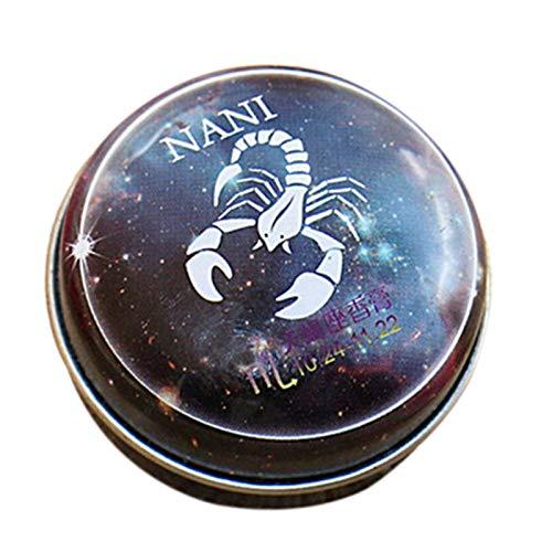 TOOGOO Baume Magique Parfum Solide Déodorant Solide Magie Du Zodiaque de Constellation Pour Les Femmes Hommes (Scorpion)