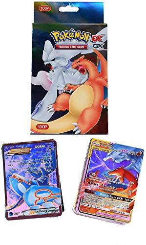 Lot de 100 cartes Pokémon brillantes Pokémon Mega EX Art 59 EX Cartes 20 cartes Mega EX 20 cartes GX 1 énergie