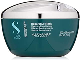 Alfaparf Milano Semi Di Lino Reconstruction Reparative Mask for Damaged Hair, Sulfate Free - Safe on Color Treated Hair - ...