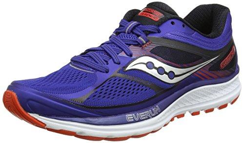 Saucony Men's Guide 10 Running Shoes, Blue (Blue/Orange), 6.5 UK
