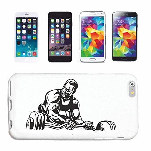 Reifen-Markt Hard Cover - Funda para teléfono móvil Compatible con Samsung Galaxy S3 i9300 Culturista con Pesa DE Peso Peso DE FORMACIÓN FORMACIÓN Gym Gym muskelau