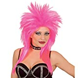 WIDMANN Ladies Womens Pink Rock Star Wig Glam Rocker Punk Fancy Dress Accessory