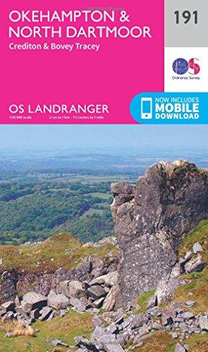 Okehampton & North Dartmoor (OS Landranger Map, Band 191)