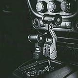 MAIKER OFF ROAD Gear Shift Lever Knob Cover Kit for Jeep Wrangler JK JKU 2007-2018 (Airplane Black)
