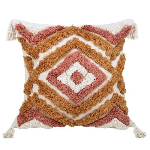 XIJIAJK Una Funda de Almohada de la tasela Creativa Retro de la Almohada de la Almohada de la Almohada Decorativa para el sofá de la Sala de Estar del Dormitorio (uninteligente)