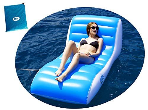 BEACHART Poltrona materassino Gonfiabile Relax con Sacca 196x100cm Mare Piscina Spiaggia