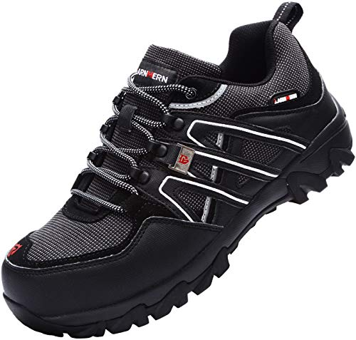 LARNMERN Zapatos Seguridad,Calzado de Trabajo para Hombre Anti-punción Puntera de Acero Botas...