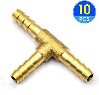 Legines 2pcs Barb Union 5//16 Barbed x 5//16 Barbed Splicer Brass Hose Fitting Mender Joiner