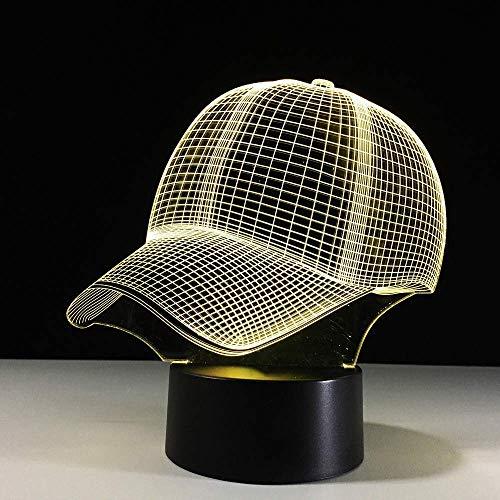 7 Farben ändern Jungen Schlafzimmer Dekor Licht 3D Hut Baseball Cap Led Sport Schreibtisch Tischlampe Baby Schlaf Nachtlicht Kind Weihnachten Geschenke