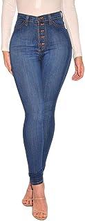 Womens Kardashian Butt Lift High Waisted Skinny Denim Stretch Slim Length Jeans