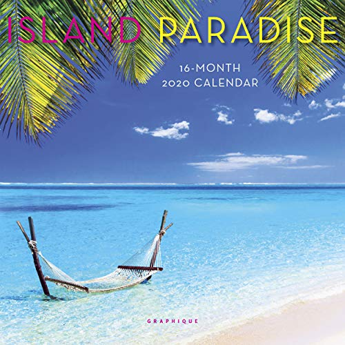 Graphique Island Paradise - Mini calendario de pared, 2020, 7 inch x 7 inch