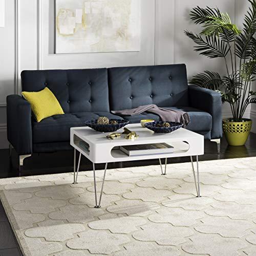 Safavieh Home Collection Keaton Coffee Table, White/Chrome