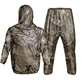 Tongcamo Mosquito Netting Suit Bug Net Mesh Clothing with Hood for Outdoor Garden Camouflage Hunting Camping Climbing Birdwatching Protection from Fly Insects Bugs