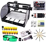 2-in-1 Upgrade Version 7000 mW CNC 3018 Pro-M Router Kit GRBL Control CNC Engraving Machine 3 Axis PCB Milling Machine Wood Router Engraver with Offline Controller