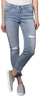 Ladies' Stretch Ankle Jean Light Blue, 10