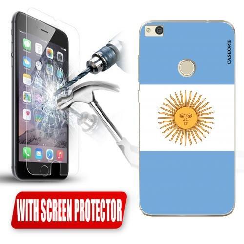 Custodia Cover Case Argentina per Huawei P8 Lite 2017 + Pellicola Vetro